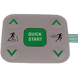 Precor C932i C954i Treadmill Snap Dome 5 Button Label p/n 48778101