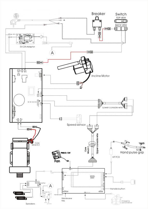 [TVPR_3874]  engineer-manual-trouble-shooting-735iversiona-smooth-0013 | Treadmill Wiring Diagram |  | Treadmill Doctor