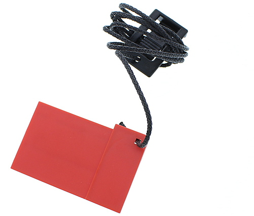 """Red/Green 1 3/4"""" Safety Key Part Number 106337"""