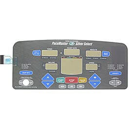 Pacemaster Pacemaster Silver Select Console Overlay (membrane)