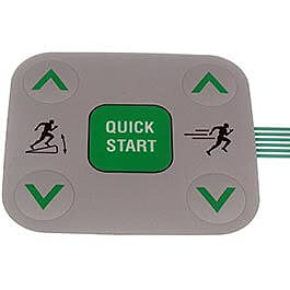 Precor C954I, Commercial Tread, 240V, Gen- AJPC Treadmill 5 Button Snap Dome Part Number PPP000000048778101